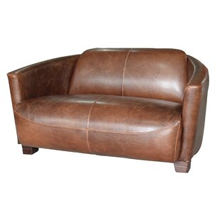 Boehme Leather Loveseat by Darby Home Co