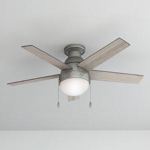 46 Anslee 5-Blade Ceiling Fan Light Kit Included by Hunter Fan
