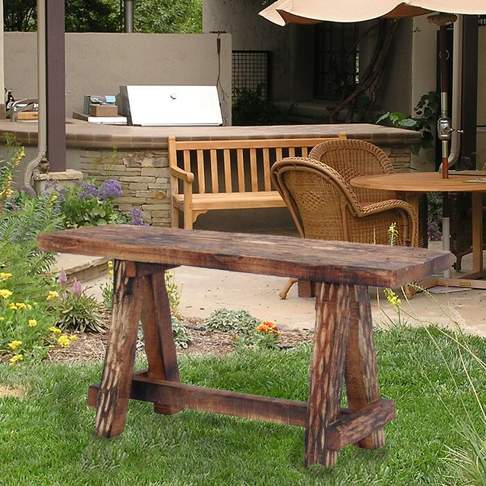 Astonishing Gwaltney Wood Garden Bench Evergreenethics Interior Chair Design Evergreenethicsorg