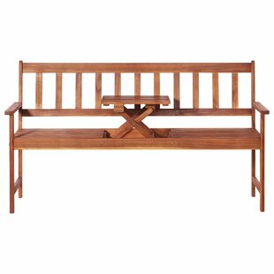 Billups Wooden Bench By Sol 72 Outdoor
