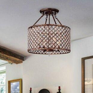 Best Reviews Vihaan 4-Light Semi Flush Mount By House of Hampton