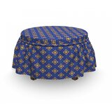 Floral Diamond Shape Ottoman Slipcover (Set of 2) by East Urban Home