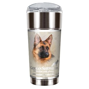 Howard Robinson's German Shepherd 24 Oz. Stainless Steel Travel Tumbler by Great American Products Wonderful