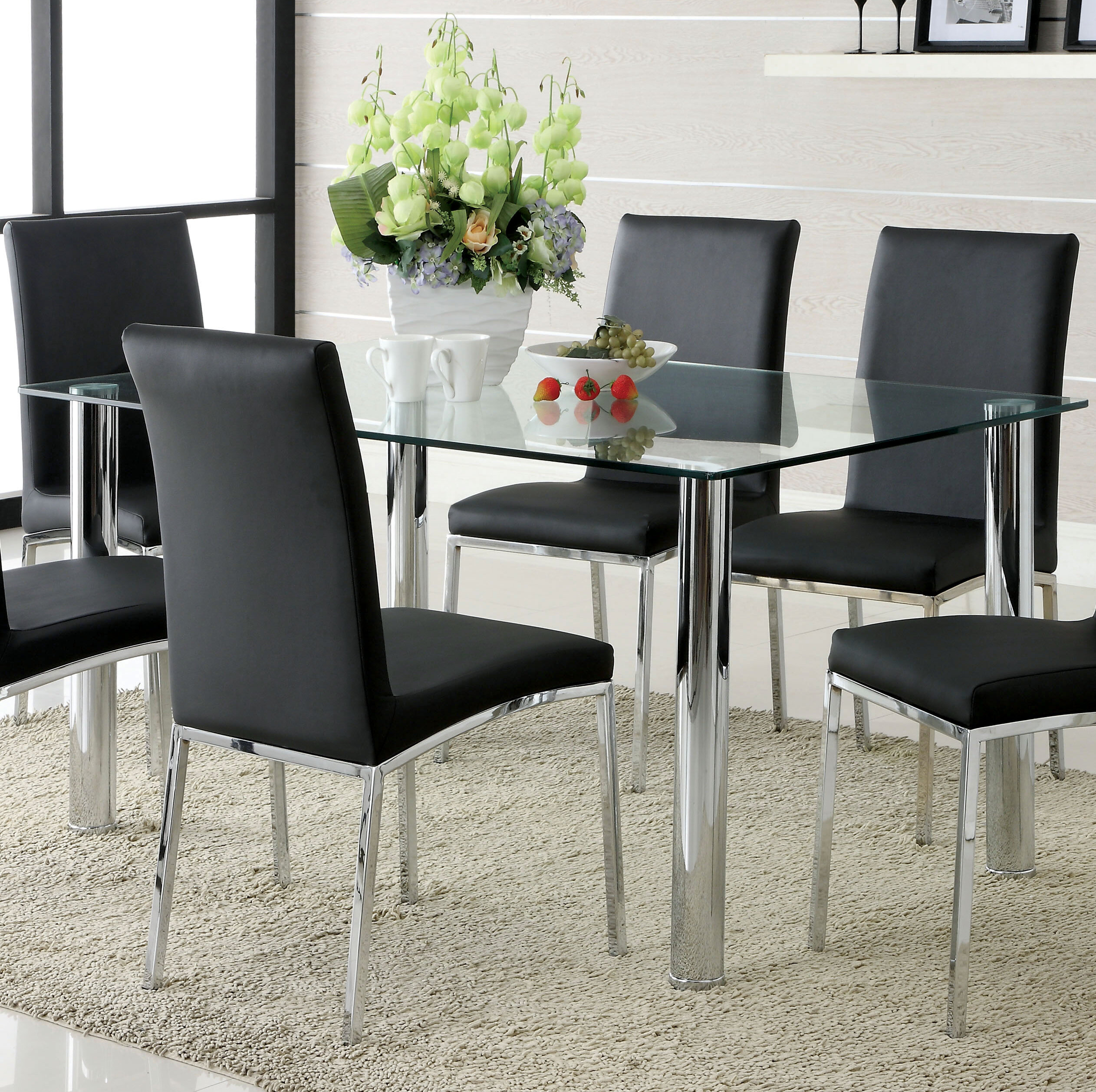Picture of: Glass Rectangular Kitchen Dining Tables You Ll Love In 2020 Wayfair