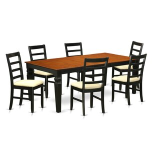Logan 7 Piece Dining Set Wooden Importers
