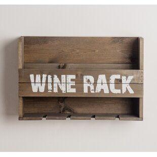 Maye 5 Bottle Wall Mounted Wine Rack by G..