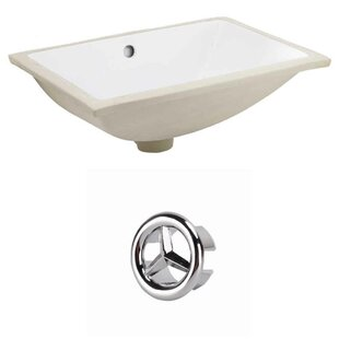 Buy clear Ceramic Rectangular Undermount Bathroom Sink with Overflow By Royal Purple Bath Kitchen