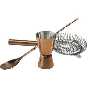 Pintado 3 Piece Copper Stainless Steel Accessory Set