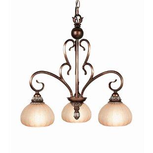 Liezel 3-Light Shaded Chandelier by Woodbridge Lighting