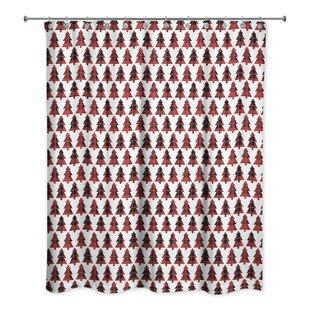 Buy clear Plaid Tree Shower Curtain ByThe Holiday Aisle