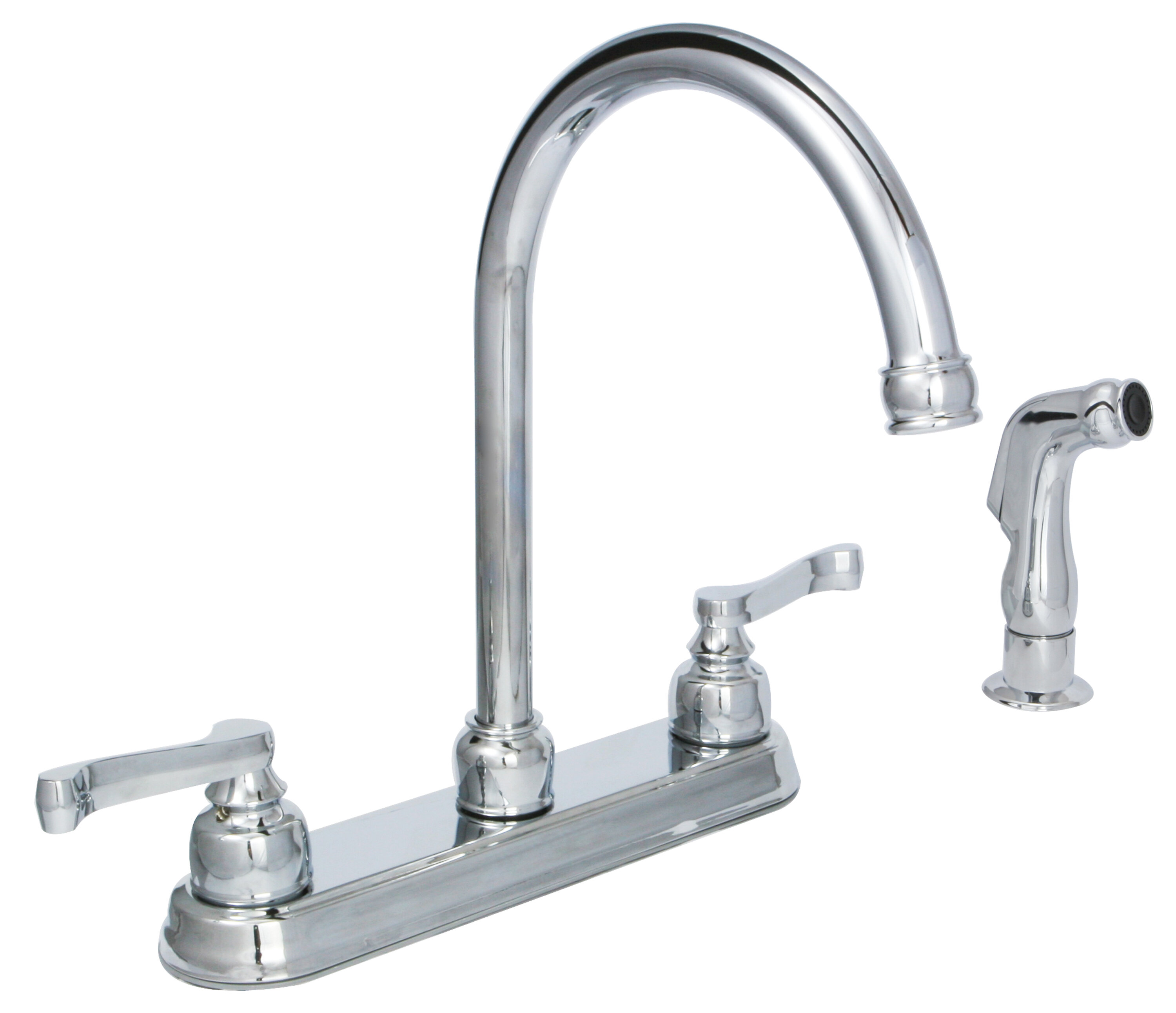 Sienna Double Handle Kitchen Faucet With Side Spray
