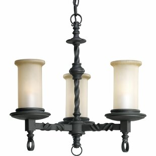 Jakes 3-Light Shaded Chandelier by Astoria Grand