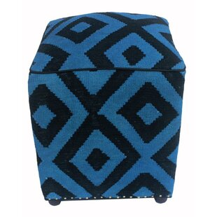 Renfrow Kilim Cube Ottoman by World Menagerie