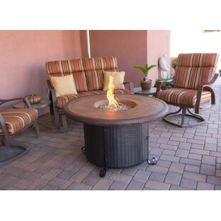 AZ Patio Heaters Wicker Propane Fire Pit Table