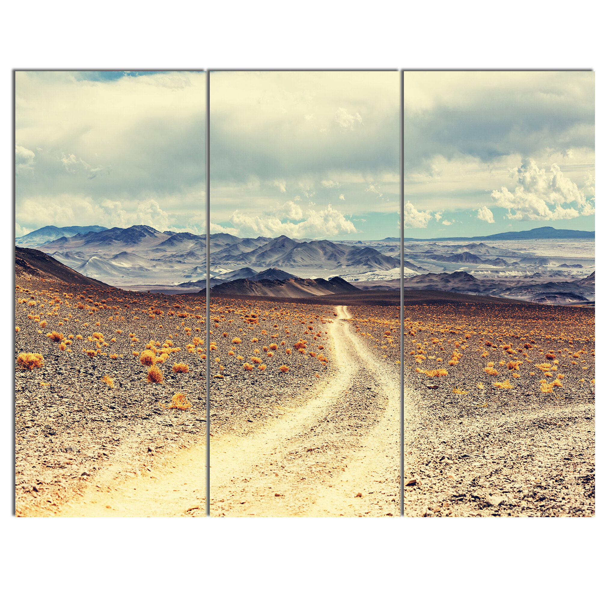 Designart Dry Grass And Mountains In Argentina 3 Piece Photographic Print On Metal Set Wayfair