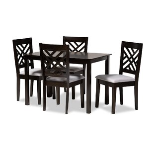 Bott 5 Piece Dining Set Canora Grey