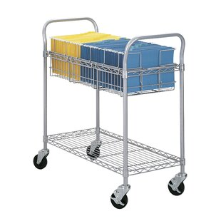 Extra Large Wire Mail Cart With 2 Shelves By Symple Stuff