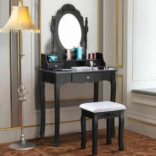 House of Hampton Kaniel Vanity Set with Mirror