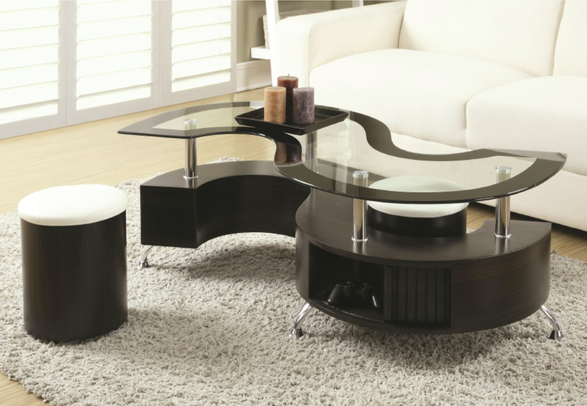 Orren Ellis Pauletta 3 Piece Coffee Table Set Reviews Wayfair