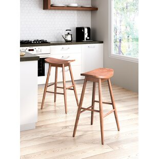 O'Connell 29.9 Bar Stool (Set of 2) by Latitude Run