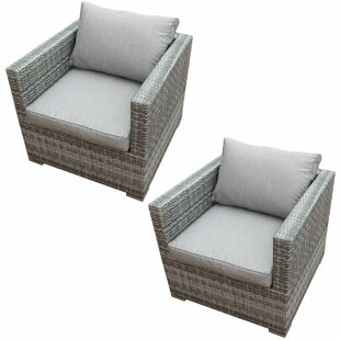 Orren Ellis Kurtis Patio Chair with Cushi..