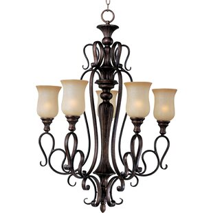 Wiltz 5-Light Shaded Chandelier by Fleur De Lis Living