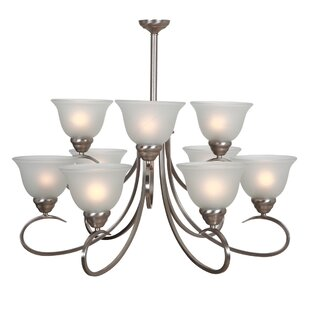 Andover Mills Gibson 9-Light Shaded Chandelier