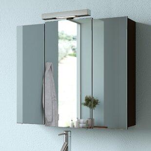 Mainz 68 X 73cm Mirrored Bathroom Cabinet By Quickset