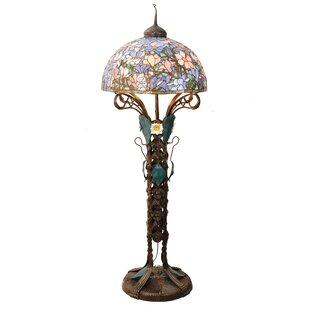 Art nouveau floor lamp wayfair tiffany magnolia nouveau floral 73 floor lamp aloadofball Choice Image