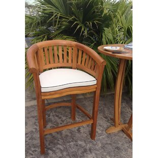 Looking for Peanut 30 inch  Teak Patio Bar Stool with Cushion Reviews
