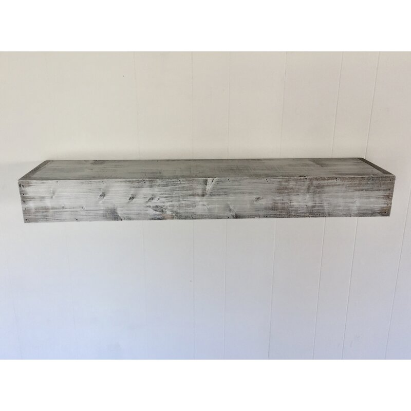 Floating Shelf In Shabby White Solid Wood Handmade Rustic Style