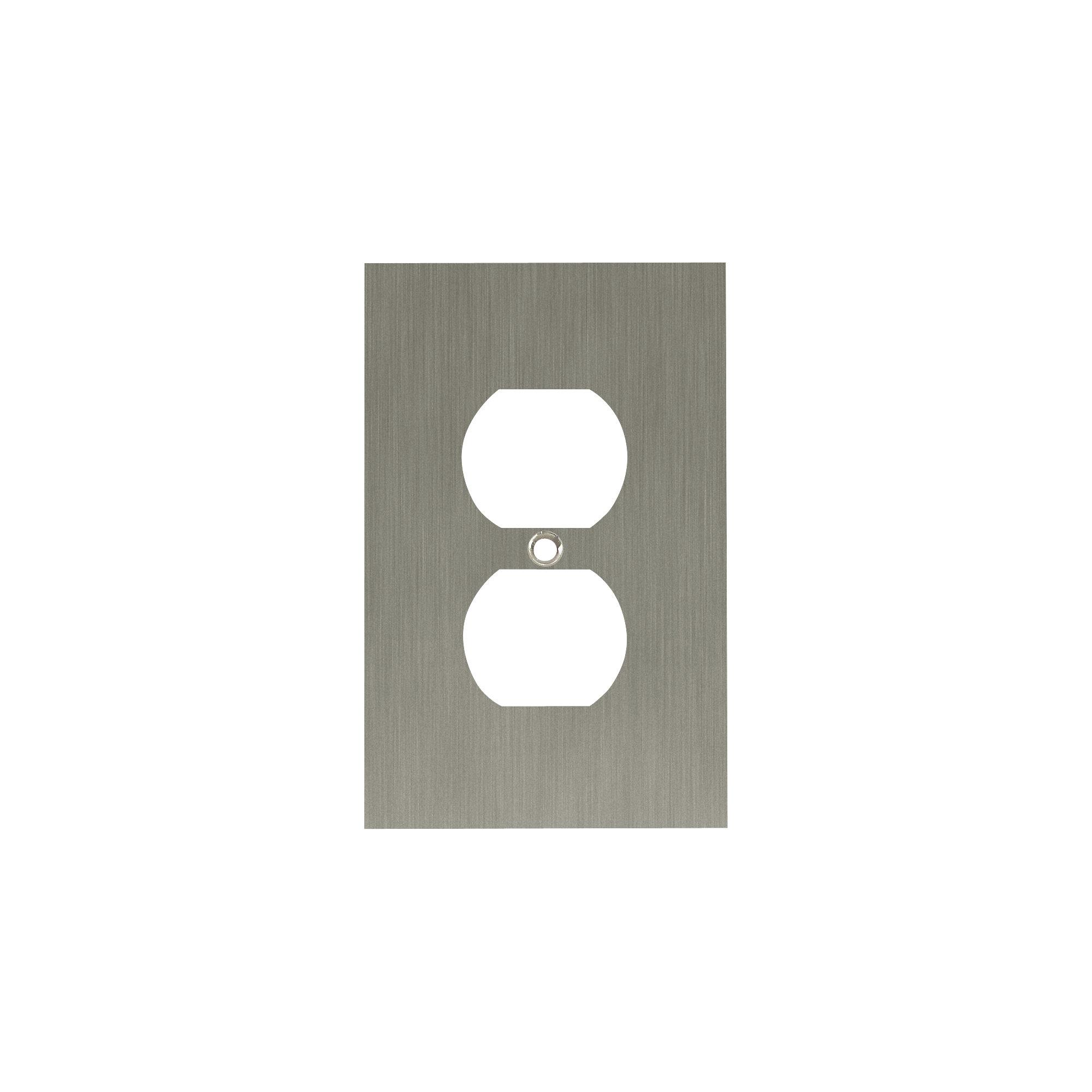 Franklin Brass Concave 1 Gang Duplex Outlet Wall Plate Reviews Wayfair