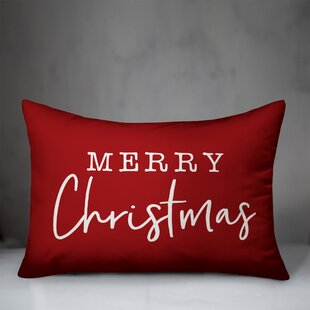 Crowl Merry Christmas Lumbar Pillow By The Holiday Aisle