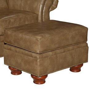 Tahoe Leather Ottoman by B..