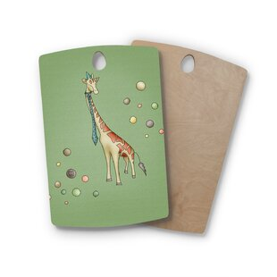 Carina Povarchik Birchwood Giraffe Cutting Board By East Urban Home