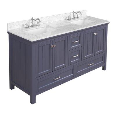 Paige 60 Double Bathroom Vanity Set Kitchen Bath Collection Base
