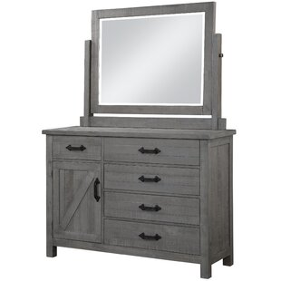 Candler 5 Drawer Gentleman's Chest with Mirror