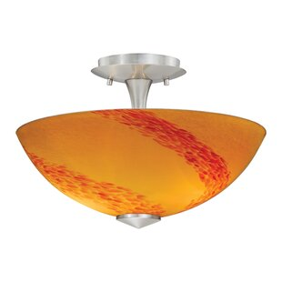 Ebern Designs Moris Semi Flush Mount