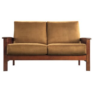 Three Posts Winnifred Mission Loveseat with Cushions