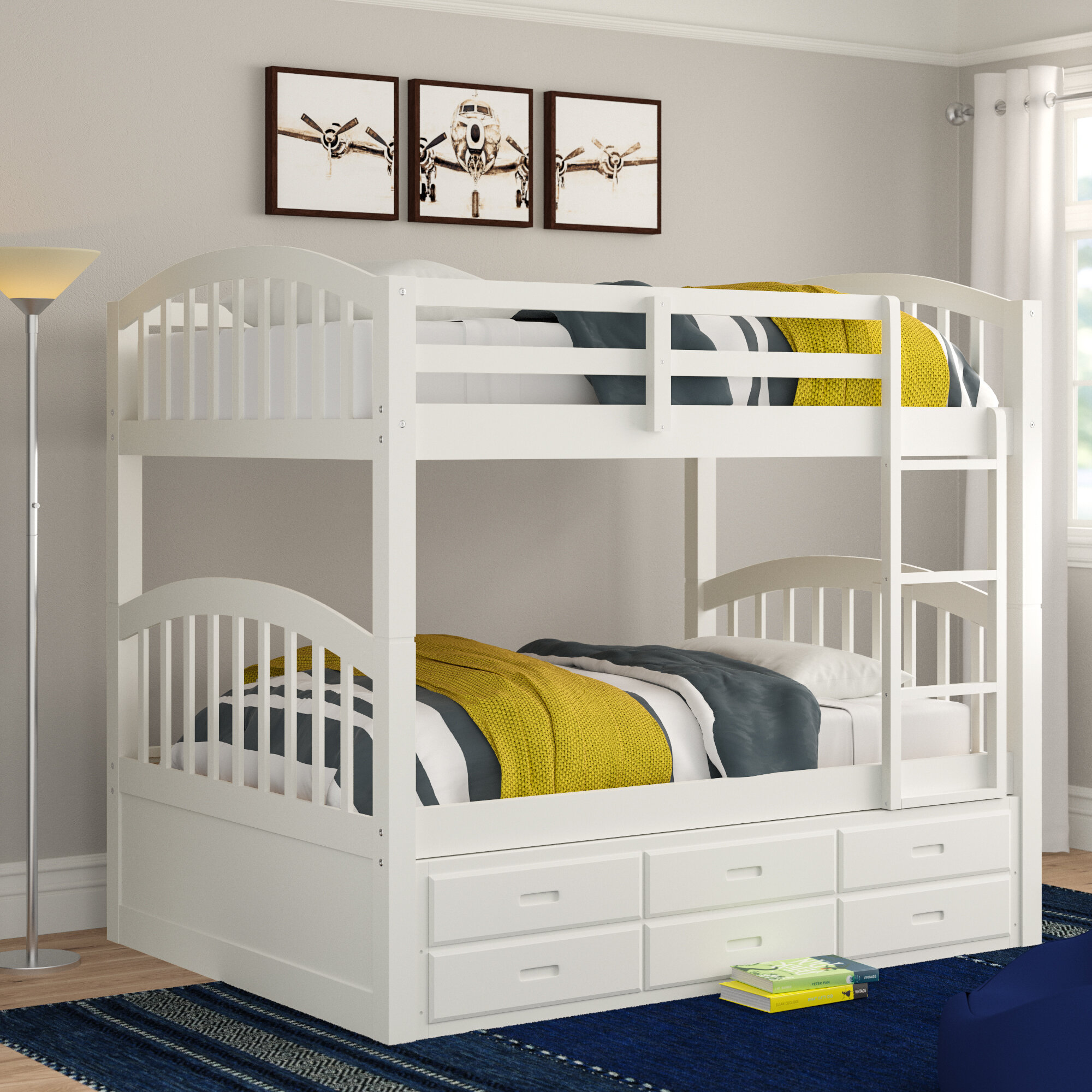 Three Posts Teen Chamblee Twin Over Twin Bunk Bed With Trundle And 3 Drawers Reviews Wayfair