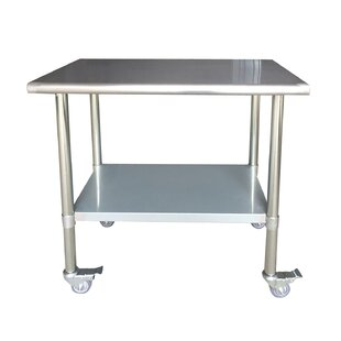 Lewallen Commercial Rolling Prep Table Symple Stuff