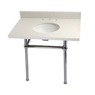 Great choice Templeton Ceramic 36 Console Bathroom Sink with Overflow ByKingston Brass