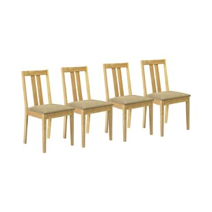 Brookvale Solid Wood Upholstered Dining Chair (Set Of 4) By August Grove