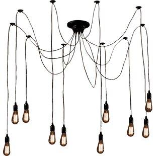 Warehouse of Tiffany Willa 10-Light Cascade Pendant