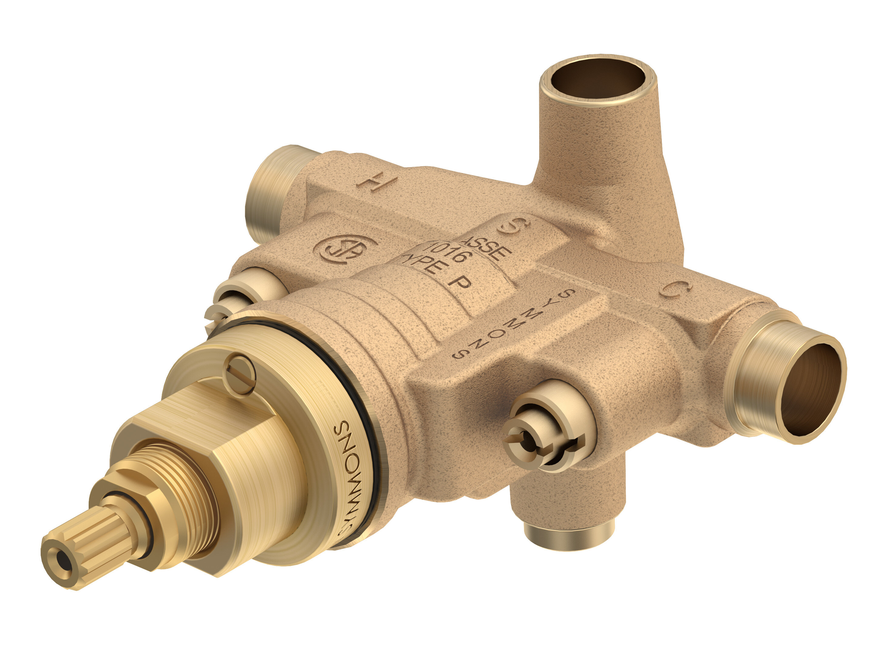 Symmons Temptrol Pressure Balancing Tub/Shower Valve Body with Stops ...