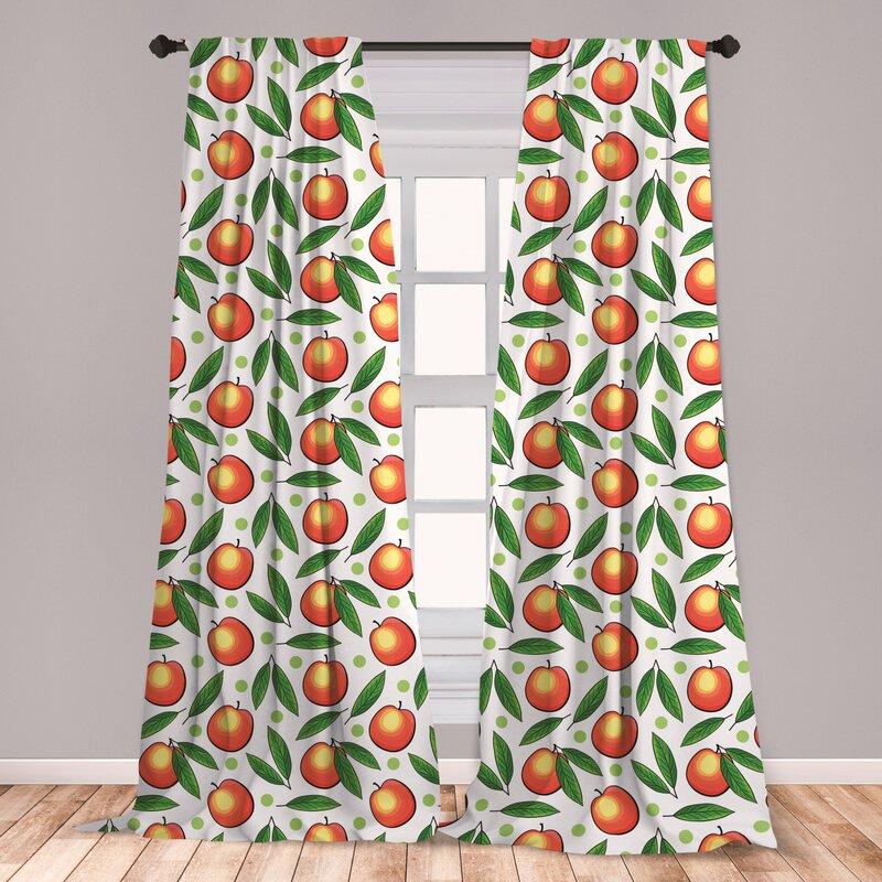East Urban Home Fruits Room Darkening Rod Pocket Curtain Panels Wayfair