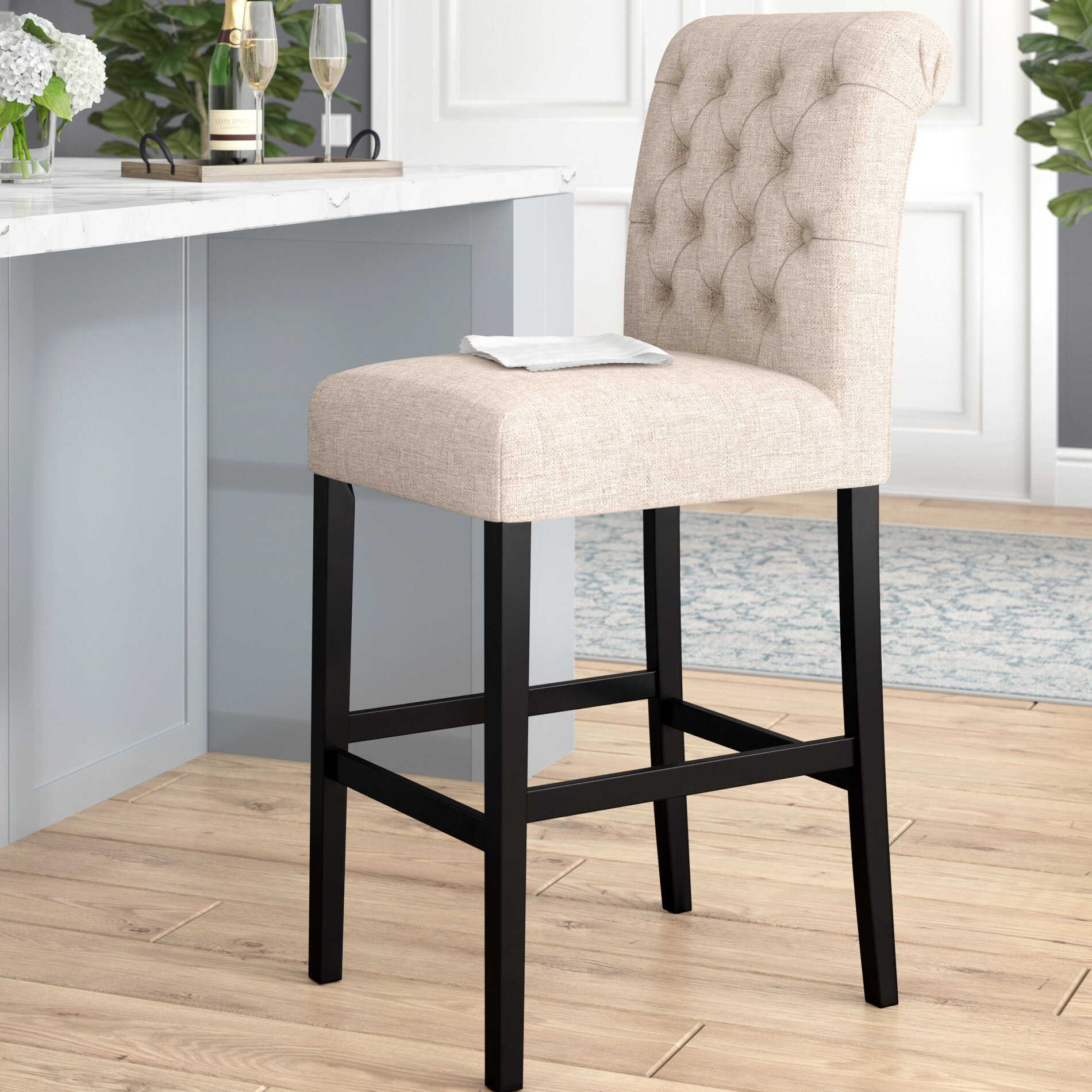 darby home co urbana tall upholstered bar stool reviews wayfair