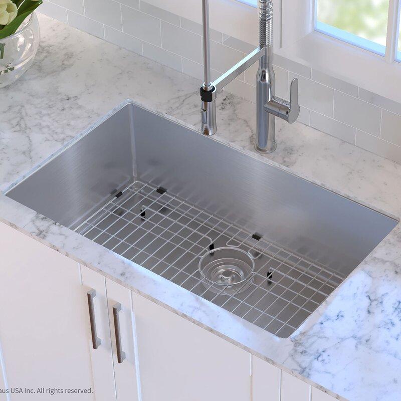Kraus 32 x 19 undermount kitchen sink reviews wayfair 32 x 19 undermount kitchen sink workwithnaturefo