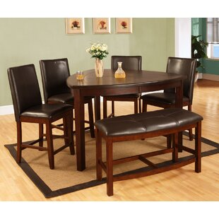 Best Quality Furniture 6 Piece Counter Height Dining Set