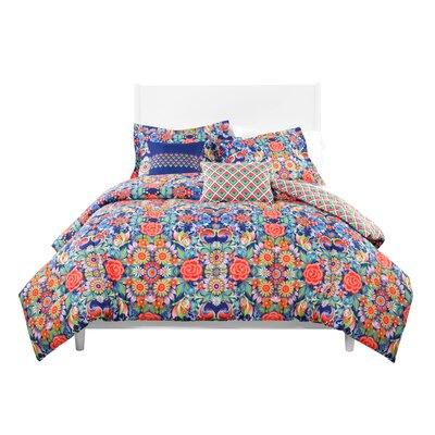 Catalina Estrada  Rosal Azul Reversible Comforter Set  Size: Twin